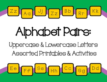 Alphabet Pairs: Uppercase & Lowercase
