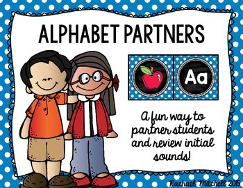 Alphabet Partners- A fun way to partner your students and