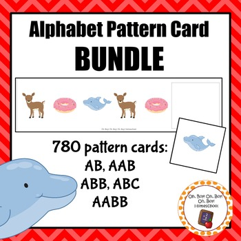 Alphabet/Phonics Pattern Cards - Growing BUNDLE!