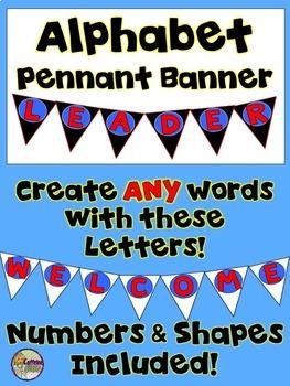 Pennant Banner - Make Your Own Banner - Bulletin Board