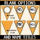 Alphabet Pennant Banner- Light Orange Diagonals