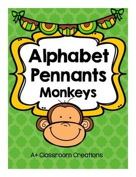 Alphabet Pennants:  Monkeys