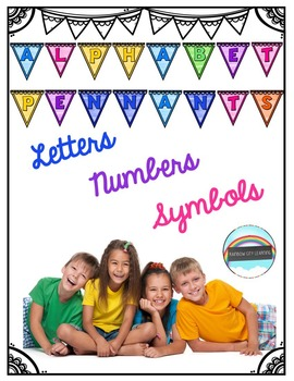 Alphabet Pennants: Watercolor and Bright