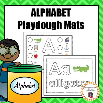 Alphabet/Phonemic Awareness Playdough Mats