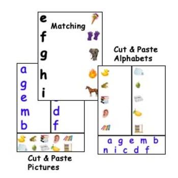 Alphabet Phonetic Worksheets Pre-School Kindergarten