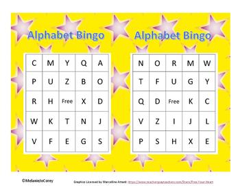 Alphabet Phonics Bingo