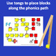 Fine Motor Alphabet Phonics Manipulative Centers with Tong