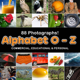 Photos Photographs ALPHABET O - Z, clip art