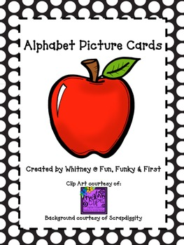 Alphabet Picture Cards - BlackPolka Dot