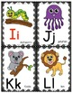 Alphabet Picture Cards and More - Black and White Polka Do