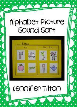 Alphabet Picture Sound Sort- Beginning Sounds