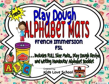 Alphabet Play Dough Mat-with Alphabet Writing Booklet-Fren