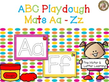 Alphabet Play Dough Mats - A to Z