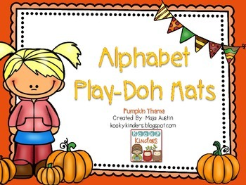 Alphabet Play Dough Mats-Pumpkin Theme