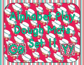 Alphabet Play Dough Mats Set 11