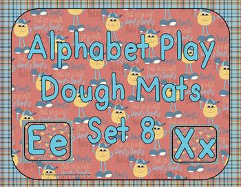 Alphabet Play Dough Mats Set 8