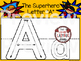 Alphabet Play Dough Mats • Superhero