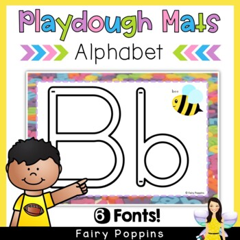 Alphabet Play Dough Mats (Write and Wipe) Zaner-Bloser and