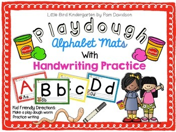 Alphabet Play-dough Mats With Handwriting Practice