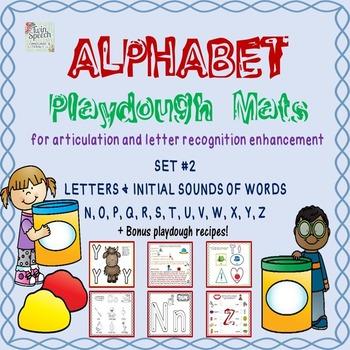 Alphabet Playdough Mats For Letter Recognition or Articula