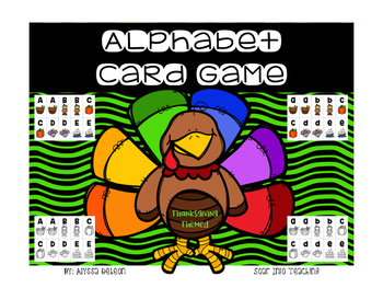 Alphabet Playing Cards {Thanksgiving Themed)