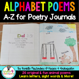 Alphabet Poems A-Z for Poetry Notebooks/Journals