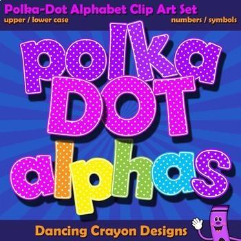 Alphabet Clipart Letters - Polka Dot