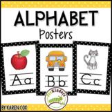 Alphabet Posters | Bold Black Polka Dots