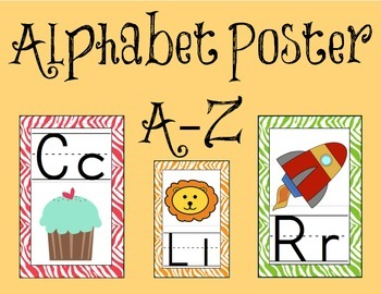 Alphabet Poster A-Z
