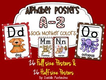 Alphabet Poster Set: A-Z (Full & Half Size Posters) {Sock