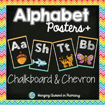 Alphabet Posters - Chalkboard and Chevron