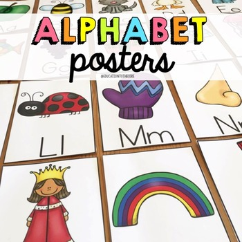 Alphabet Activities, Alphabet Posters, Letter Recognition