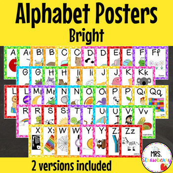 Bright Alphabet Posters {Alphabet Charts}