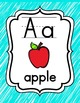 Alphabet Posters {Aqua Scribble}