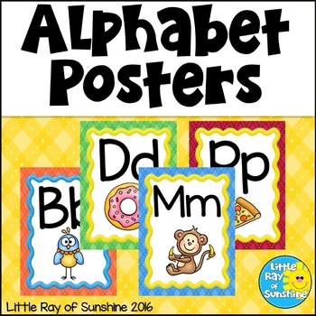 Alphabet Posters - Argyle Design