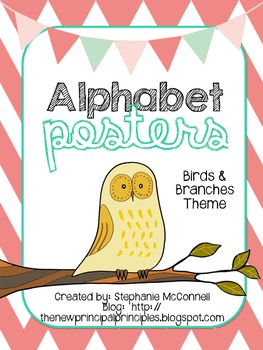 Alphabet Posters- Birds & Branches Theme