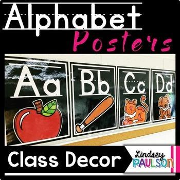 Alphabet Posters Black