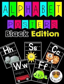 Alphabet Posters - Black Edition