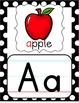 Alphabet Posters - Black, White & Red Polka Dot