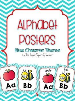 Alphabet Posters {Blue Chevron}