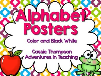 Bright Quatrefoil Alphabet Posters
