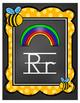 Alphabet Posters -Chalkboard Bumblebee Theme (Classroom Decor)