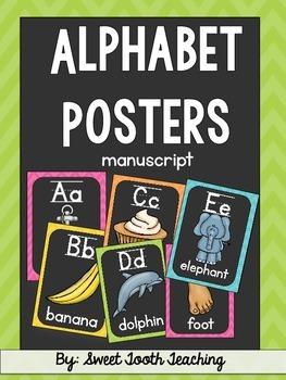 Alphabet Posters- Chalkboard & Chevron