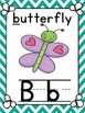 Alphabet Posters with matching number posters Word Wall He