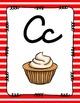 Alphabet Posters Cursive-Unlined {Stripes}