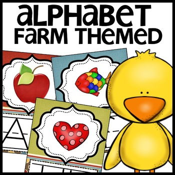 Alphabet Posters Farm themed