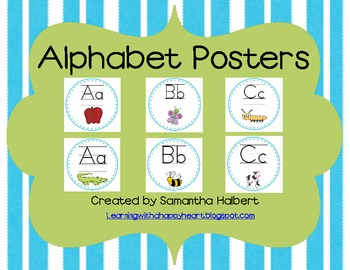 Alphabet Posters Featuring 2 Different Clip Art Designs