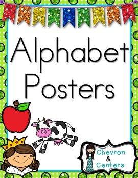 Alphabet Posters-Glitter dot style