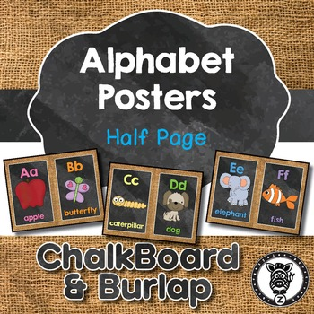 Alphabet Posters - Half page