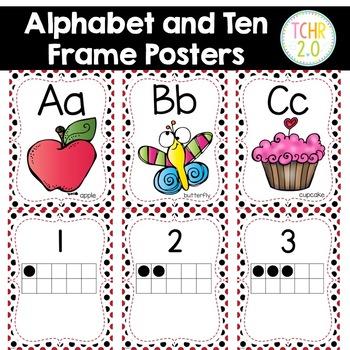 Alphabet Posters Ten Frame Posters Ladybug